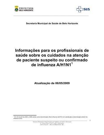 Informações para os profissionais de saúde sobre os cuidados na ...