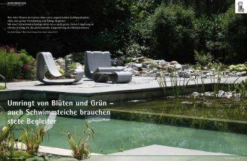 auch Schwimmteiche brauchen stete Begleiter - Lehnert AG