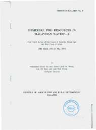 demersal fish resources in malaysian waters-6 - Seafdec