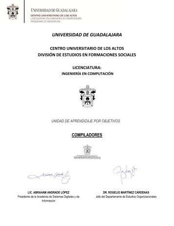 Compiladores - Centro Universitario de los Altos - Universidad de ...