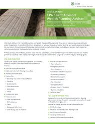 CPA Client Advisor/ Wealth Planning Advisor - CCH