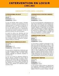 Microsoft Word - Description cours Intervention en loisir.doc