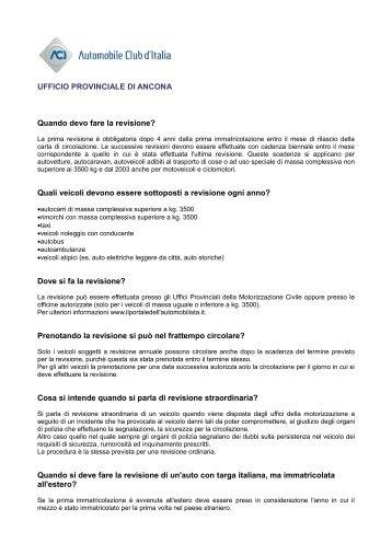Approfondisci - Network Uffici Provinciali ACI