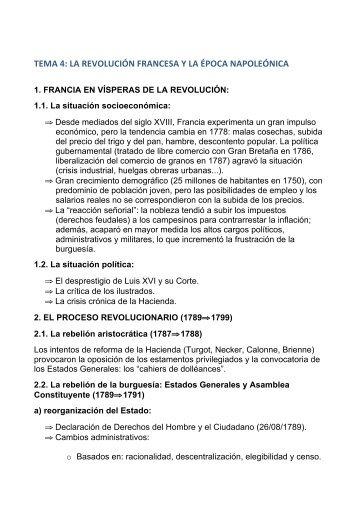 tema 4: la revolución francesa y la época ... - IES Rey Pastor