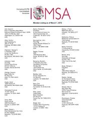 Member Listing as of March 1, 2012 - International Oil Mill ...