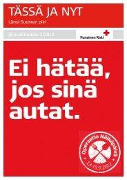 Tässä ja Nyt 3/2012 - RedNet - Punainen Risti