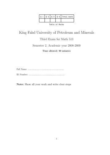 E3 - King Fahd University of Petroleum & Minerals