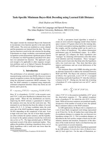Task-Specific Minimum Bayes-Risk Decoding using Learned Edit ...