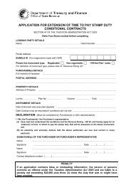 APPLICATION FOR EXTENSION OF TIME TO PAY STAMP DUTY