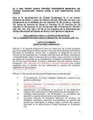Reglamento para la Entrega-Recepción - Municipio de Guadalupe