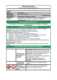 Biostoffverordnung, Biologischer Arbeitsstoff - THW Adelsheim
