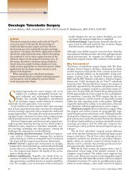 oncologic Telerobotic surgery - Association of Community Cancer ...