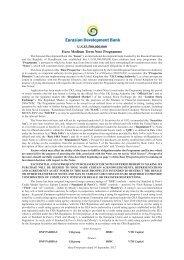 U.S.$3,500,000,000 Euro Medium Term Note Programme