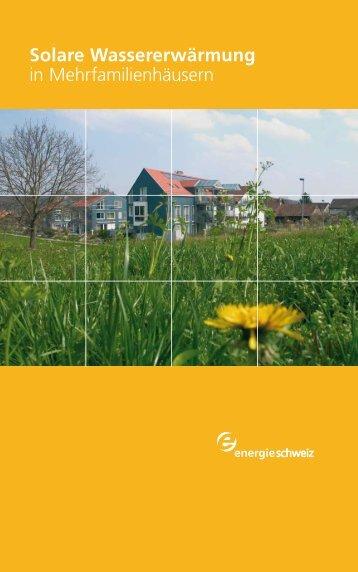 Solare Wassererwärmung in Mehrfamilienhäusern - Bären ...