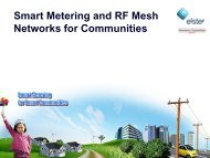 Smart Metering and RF Mesh Networks for Communities