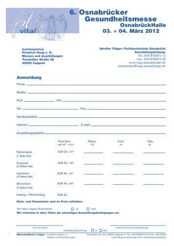 6. Osnabrücker Gesundheitsmesse - Friedrich Haug