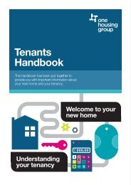 About your tenancy - One Housing Group