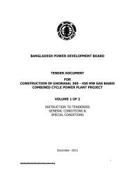 Tender Document for Construction of Ghorasal 300-450 MW ... - BPDB