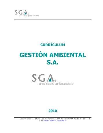 CV SGA SA Noviembre 2010