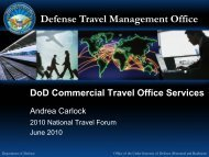 Defense Travel Management Office - The Global Business Travel ...