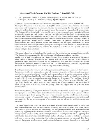 Abstracts of Thesis Completed by ILRI Graduate Fellows 2007- PhD ...