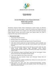 BADAN PUSAT STATISTIK PENGUMUMAN - Informasi Lowongan ...