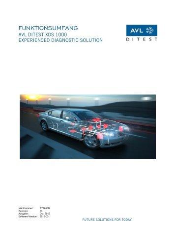 Funktionsumfangsliste DiTEST XDS 1000 2012-03 - Meyer ...