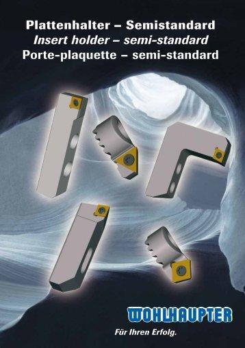 Plattenhalter – Semistandard Insert holder – semi-standard Porte ...
