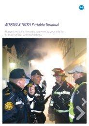 MTP850 S TETRA Portable Terminal - ConnectCom