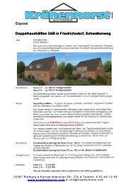 Exposé Doppelhaushälften 2AB in Friedrichsdorf, Schwalbenweg