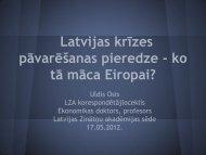 prezentācija - Latvijas Zinātņu Akadēmija