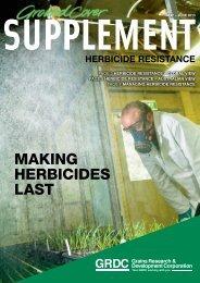 herbicide resistance - Grains Research & Development Corporation