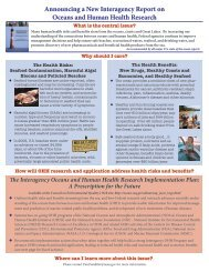 two page announcement - The Oceans and Human Health Initiative ...