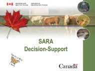 Species at Risk Decision Support Tool