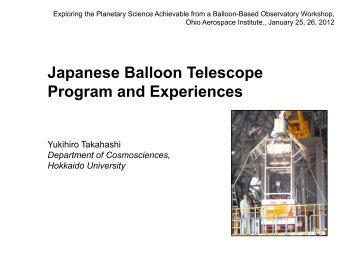 Japanese Balloon Telescope Program and Experiences