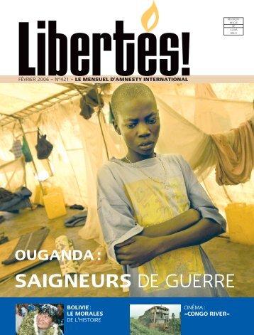 Libertés 421 - amnesty.be