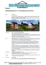 Einfamilienhaus Nr. 7 in GT-Spexard; Zum Flürt