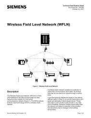 Wireless Field Level Network (WFLN) Technical ... - Siemens