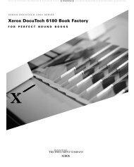 Xerox DocuTech 6180 Book Factory