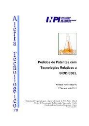 Biodiesel - ALERTATECNOLOGICO - VII - Inpi