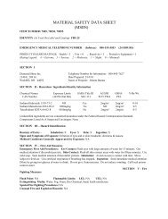 MATERIAL SAFETY DATA SHEET (MSDS) - DiamondShine