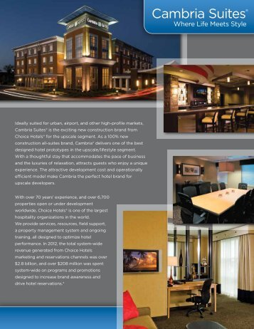 Brand Overview - Choice Hotels Franchise