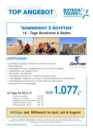 SPECIAL OFFER - Botros Tours GmbH