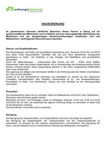 Allg Hausordnung Vokus Hausverwaltung