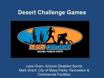 Desert Challenge - Arizona Parks and Recreation Association