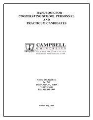 Practicum - Campbell University