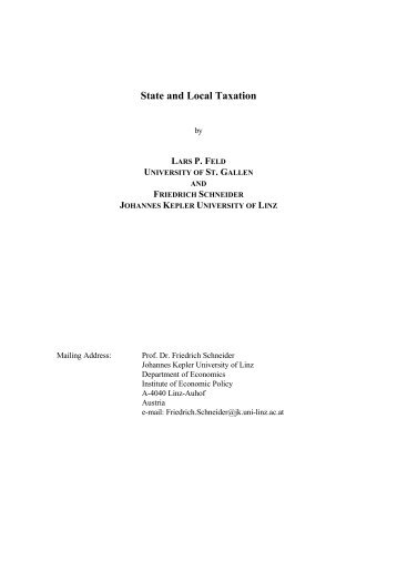 State and Local Taxation - Department of Economics