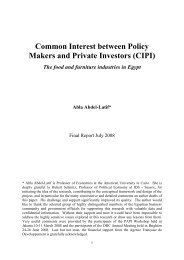 Common Interest between Policy Makers and Private Investors (CIPI)