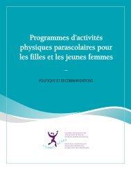 Programmes d'activités physiques parascolaires pour les filles