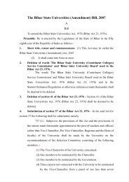 The Bihar State Universities (Amendment) Bill, 2007 - Education ...